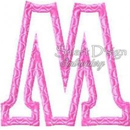 """Alphabet DANNY - Letter M Applique 4x4"""""""