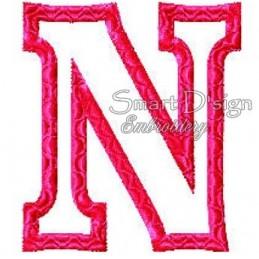 """Alphabet DANNY - Letter N Applique 4x4"""""""