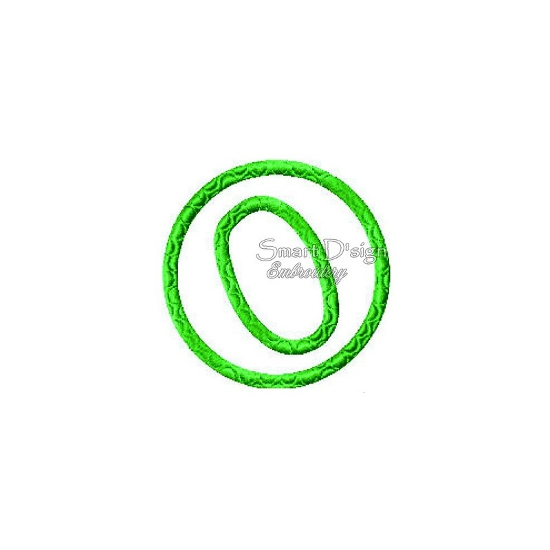 "Machine Embroidery Designs 4/"" x 4/"" Hoop ABC Designs Snake Alphabet"