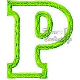 """Alphabet DANNY - Letter P Applique 4x4"""""""