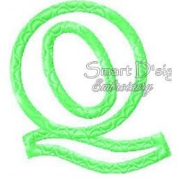 """Alphabet DANNY - Letter Q Applique 4x4"""""""