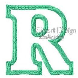 """Alphabet DANNY - Letter R Applique 4x4"""""""