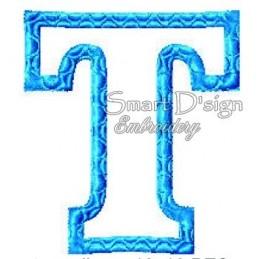 """Alphabet DANNY - Letter T Applique 4x4"""""""