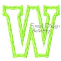 """Alphabet DANNY - Letter W Applique 4x4"""""""