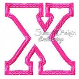 """Alphabet DANNY - Letter X Applique 4x4"""""""