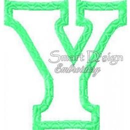 """Alphabet DANNY - Letter Y Applique 4x4"""""""