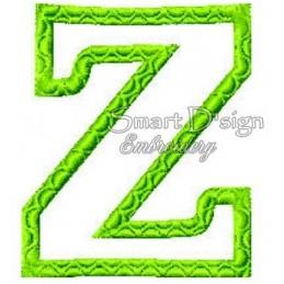 """Alphabet DANNY - Letter Z Applique 4x4"""""""