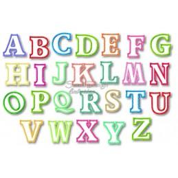 Alphabet DANNY - 26 Buchstaben Applikation 10x10 cm