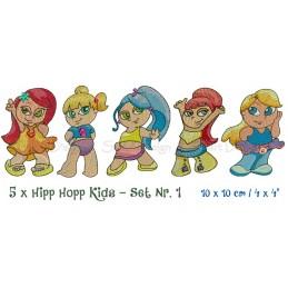 5 x Hipp Hopp Kids Set 1 4x4 inch