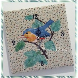 Robin Wall Clock Embroidery Project