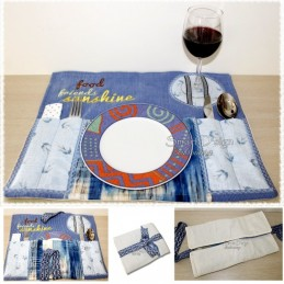 Ebook Picnic Bag Placemat Project incl. files 5x7 inch
