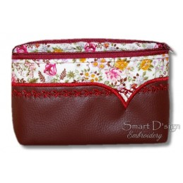 ITH Cosmetic Bag w. Inside Pockets V-Line 3 Sizes