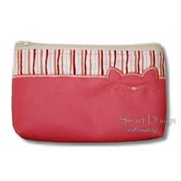 ITH CAT Cosmetic Bag w. Inside Pockets 3 Sizes