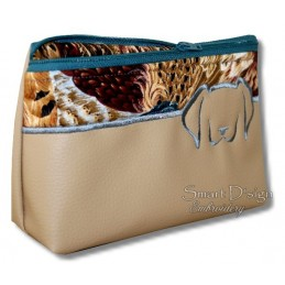 ITH Dog Cosmetic Bag w. Inside Pockets 3 Sizes