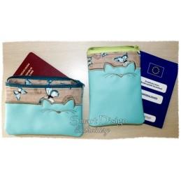 ITH 2x CAT Silhouette Zipper Bag 5x7 inch