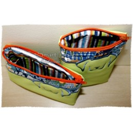 ITH 2x DOG Silhouette Zipper Bag 5x7 inch