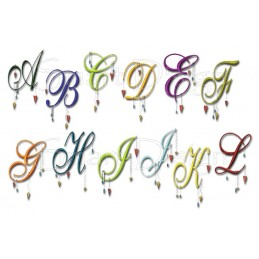 26 Romantic Dangle Letters 4x4 inch