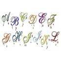 26 Romantic Dangle Letters 5x7 inch