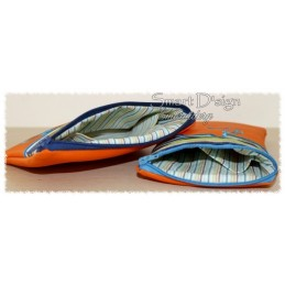 ITH 2x PFERD Silhouette RV-Tasche mit Futter 13x18 cm