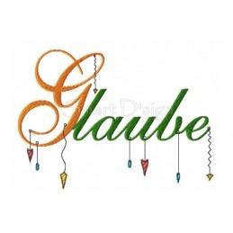 GLAUBE Romantischer Dangle Spruch 13x18 cm