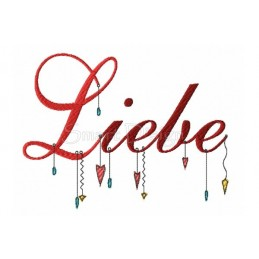 LIEBE Romantic Dangle Saying 5x7 inch