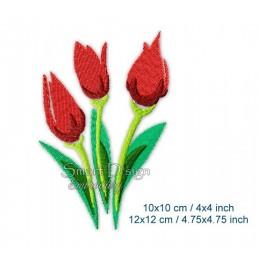 3 Tulpen Blume 2 Größen