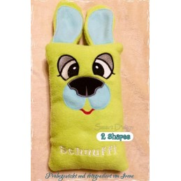 DOG SCHNUFFY Soft Toy & Cushion Set 6.2x10x2 inch