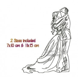 Liebespaar Brautpaar 2 Größen im Set