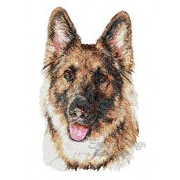 Cisco German Shepherd Photo Stitch 5.5x7.9 inch