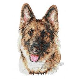 Cisco German Shepherd Photo Stitch 5.5x7.9 inch