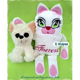 CAT MINKY Soft Toy & Cushion Set 6.2x10x2 inch