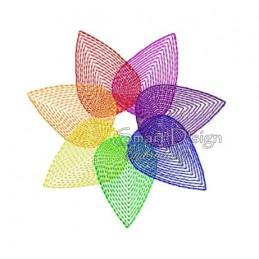 Rainbow Flower 4x4 inch