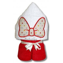 Peeker Applique Bow - 5x7 inch