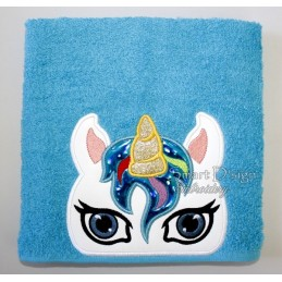 Peeker Applique Unicorn - 5x7 inch