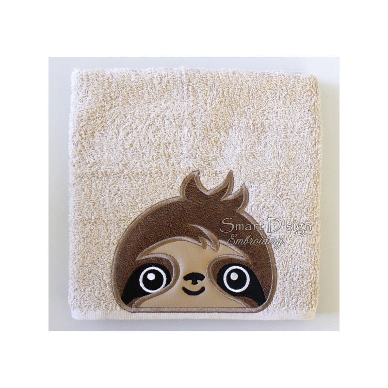 Peeker Applique Sloth - 5x7 inch