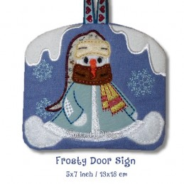 FROSTY - Winter Door Sign ITH 5x7 inch