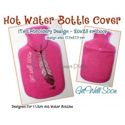 ITH Hot Water Bottle Cover - Gute Besserung - 7x11 inch