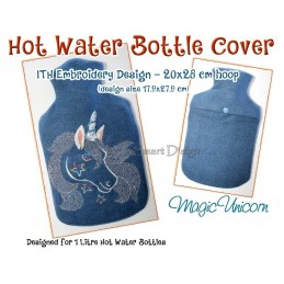 ITH Hot Water Bottle Cover - Magic Unicorn - 7x11 inch