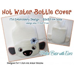 ITH Hot Water Bottle Cover - Polar Bear - 7x11 inch
