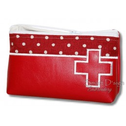 ITH FIRST AID Silhouette Cosmetic Bag w. Inside Pockets 3 Sizes