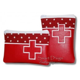 ITH 2x FIRST AID Silhouette Zipper Bag 5x7 inch