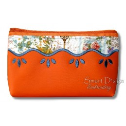 ITH WAVE Silhouette Cosmetic Bag w. Inside Pockets 3 Sizes