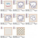 ELEPHANT LOVE Trapunto Set ITH QUILT 5x5 inch