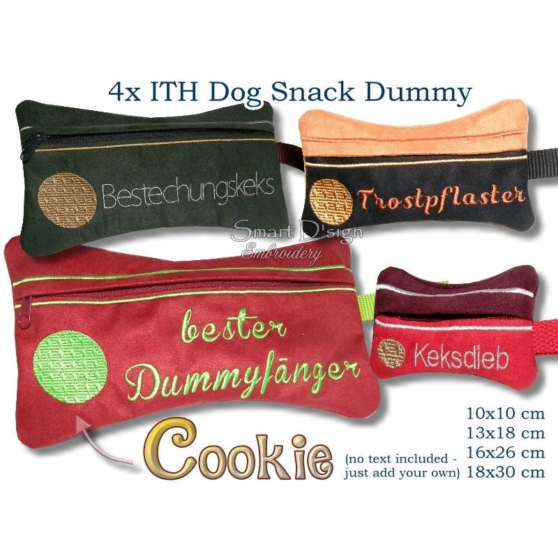 ITH Set 4x Cookie Dog Snack Dummy 4 Sizes