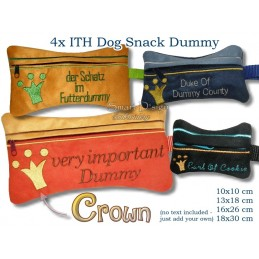 ITH Set 4x Crown Dog Snack Dummy 4 Sizes
