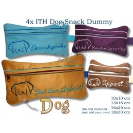 ITH Set 4x Silhouette Dog Snack Dummy 4 Sizes