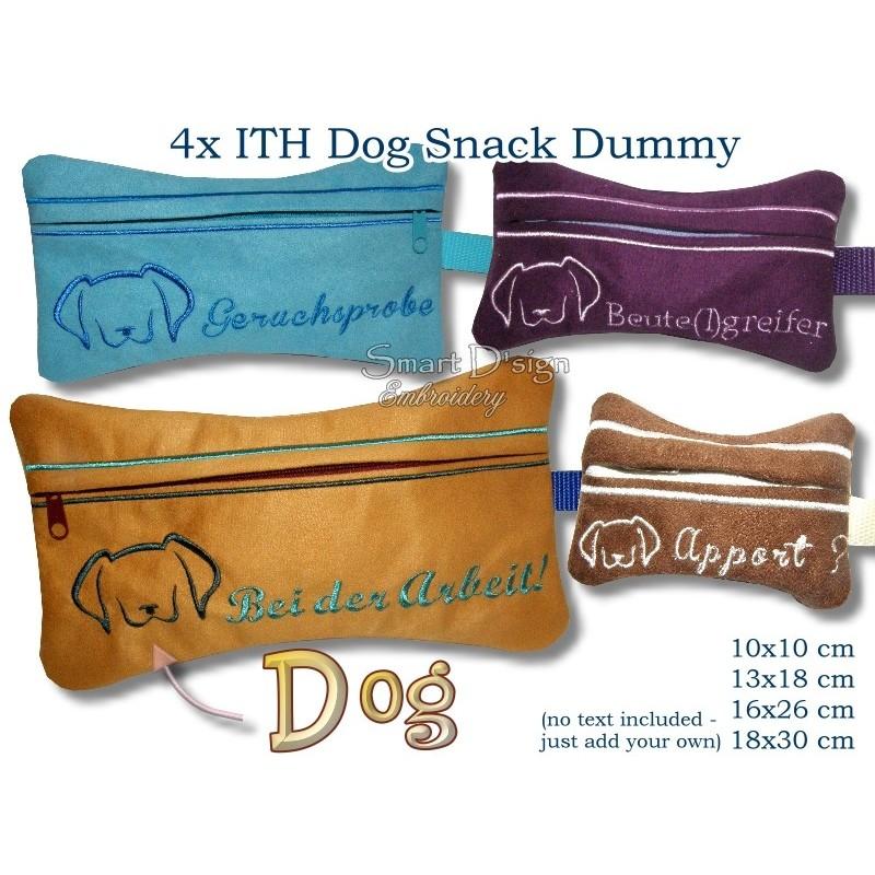 ITH Set 4x Silhouette Dog Snack Dummy 4 Sizes