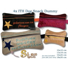 ITH Set 4x Star Dog Snack Dummy 4 Sizes