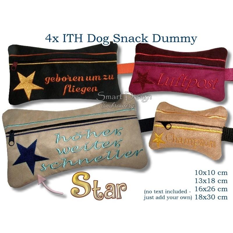 ITH Set 4x Star Dog Snack Dummy 4 Sizes