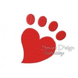 Paw Heart 4x4 inch
